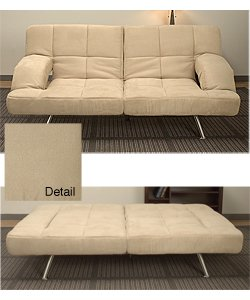 Chai Microsuede Sofa Bed