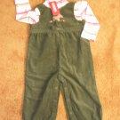 Girls Gymboree overalls & long sleeve T-shirt 18-24 months