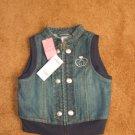 Girls toddler Gymboree denim rhinestone top vest size 4