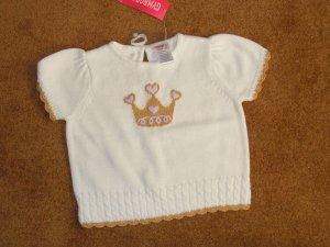 Girls Toddler Gymoree  top white knit shirt 18-24 months NWT