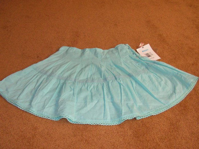 Girls pleated Roxy blue skirt bottoms size 8