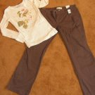 Women's Juniors Aeropostale pants sz 11/12  long sleeve t-shirt sz L