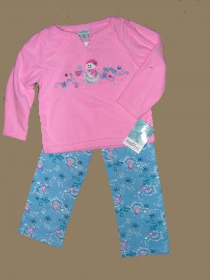 GIRLS TODDLER  HEALTHTEX  PINK FLEECE  SHIRT  & PANTS  NWT SZ 2T
