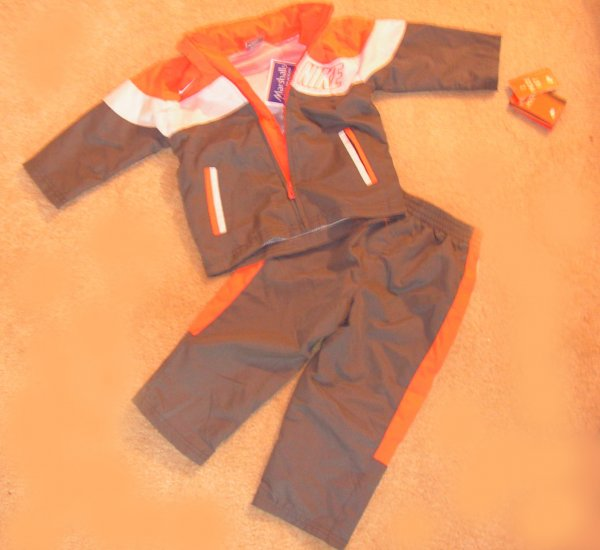 Boys Toddler Nike two piece wind  suit with hood NWT 24 months