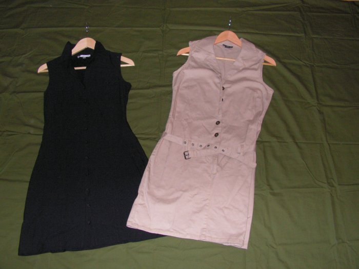 Women lot black and khaki dress size 9