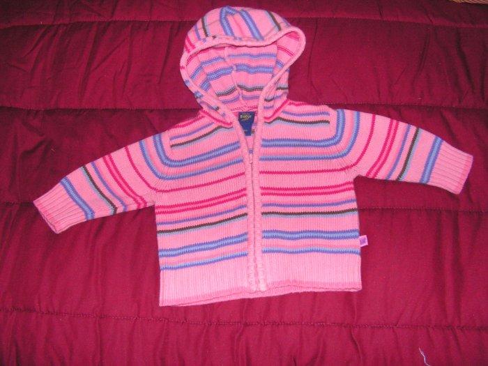 Girls toddlers Oshkosh pink hoodie size 12 months