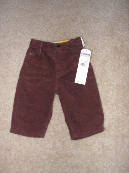 Boys infants  Oshkosh brown curduroy pants sz 9 months