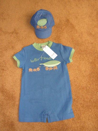Boys toddlers infants Gymboree Botanical Babies romper 12-18 months