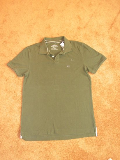 Men's Aeropostale Green Polo shirt SZ L short sleeve NWT