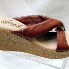Island Slipper Women's P527 Wedge Sandal - COGNAC