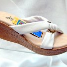 Island Slipper Women's P527 Wedge Sandal - WHITE