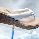 Island Slipper Women's P516 Wedge Thong - WHITE