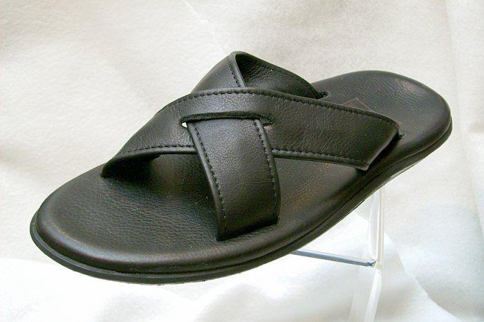 Island Pro Men's PB223 Leather Slider - BLACK