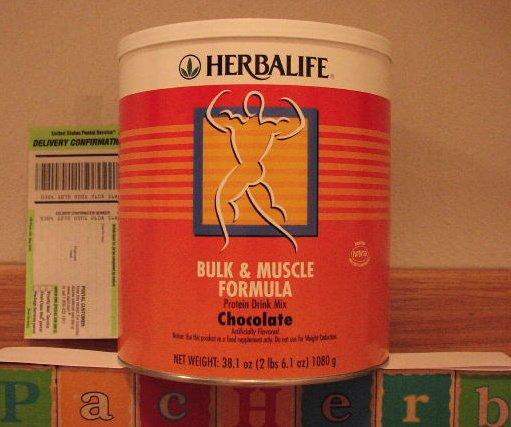 Herbalife Bulk & Muscle Formula Protein Chocolate 2005