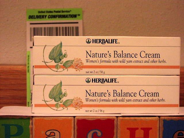 Herbalife Nature's Balance Cream 2003 06/05 x 2