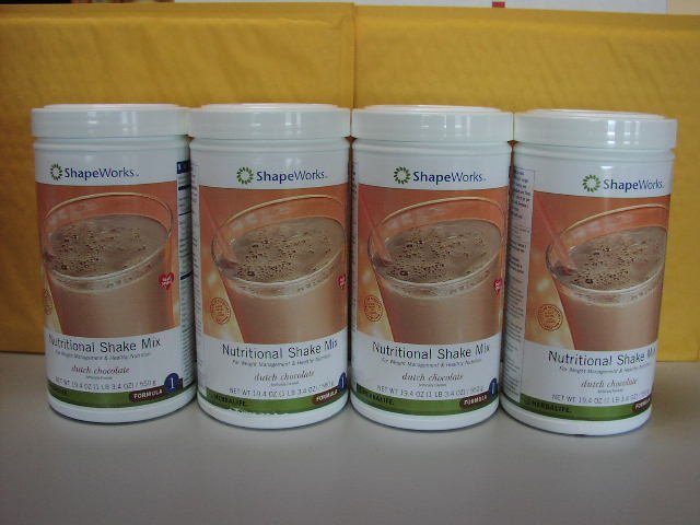 Herbalife F1 Nutritional Shake Mix 4-pack Dutch Chocolate 550g Formula 1 ShapeWorks
