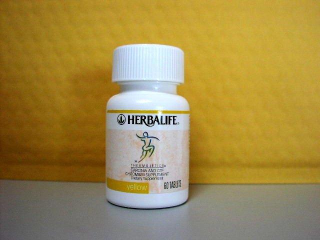 Herbalife Yellow Garcinia and GTF Chromium Thermojetics 2001