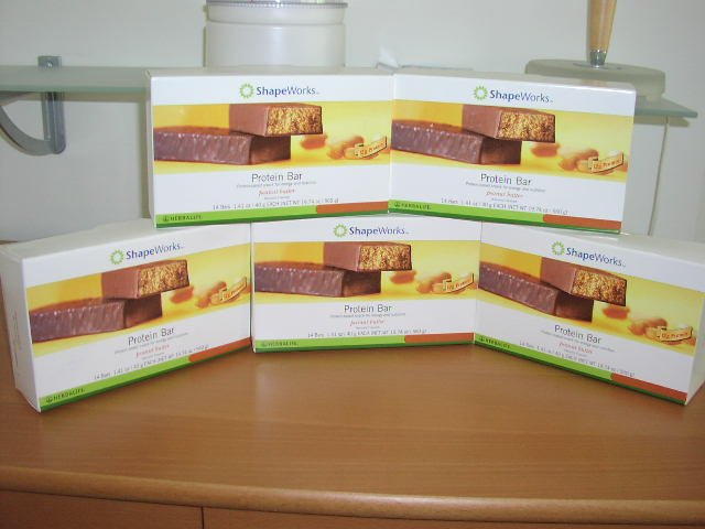 Herbalife Protein Bars Peanut Butter 5 Box Lot ShapeWorks 2007