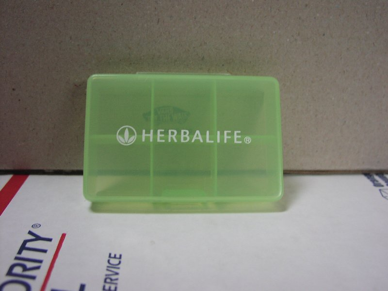 Herbalife Pill Tablet Box Container Dispenser small