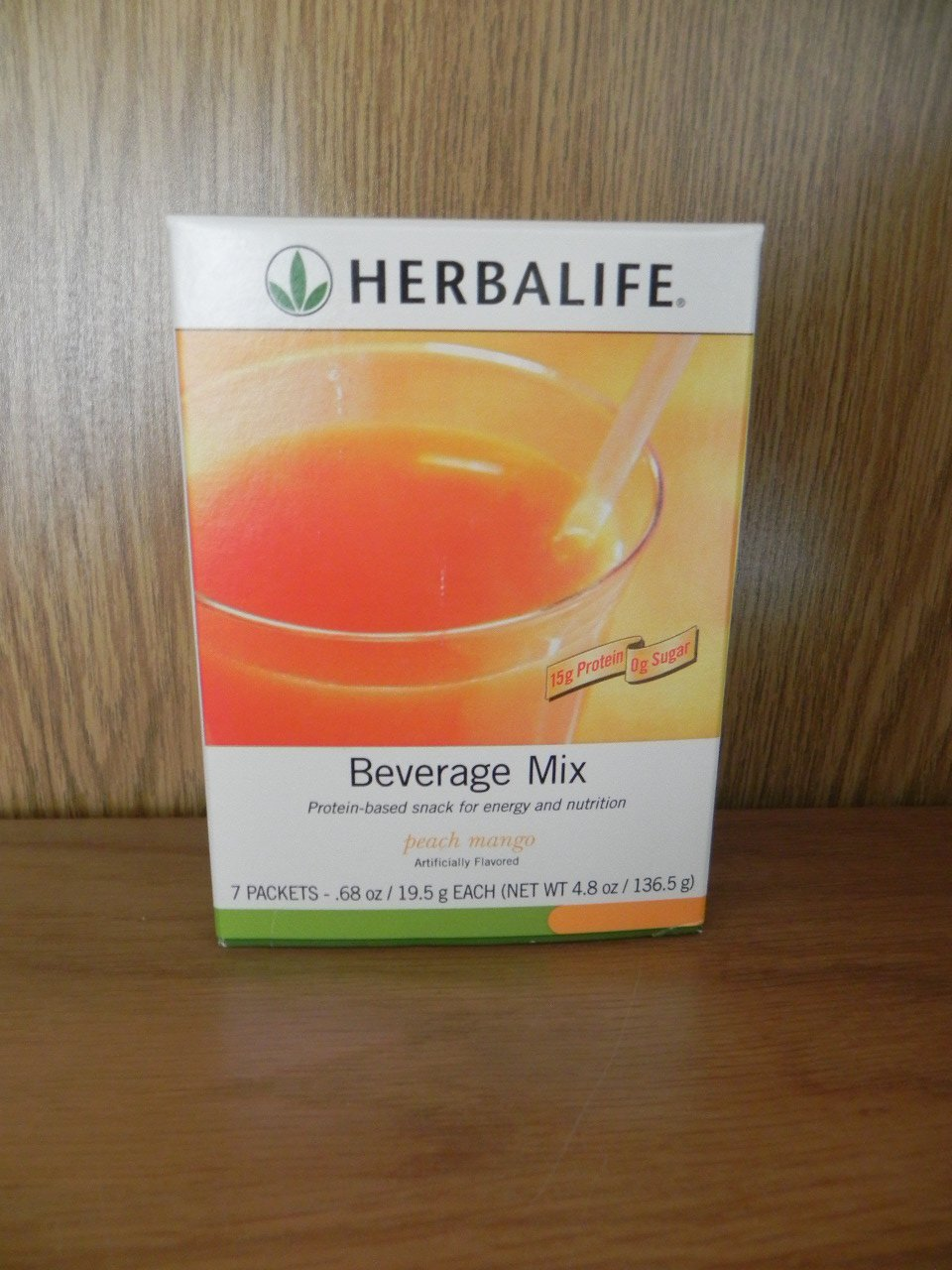 Herbalife Beverage Mix Peach Mango 7 packets ShapeWorks 2010