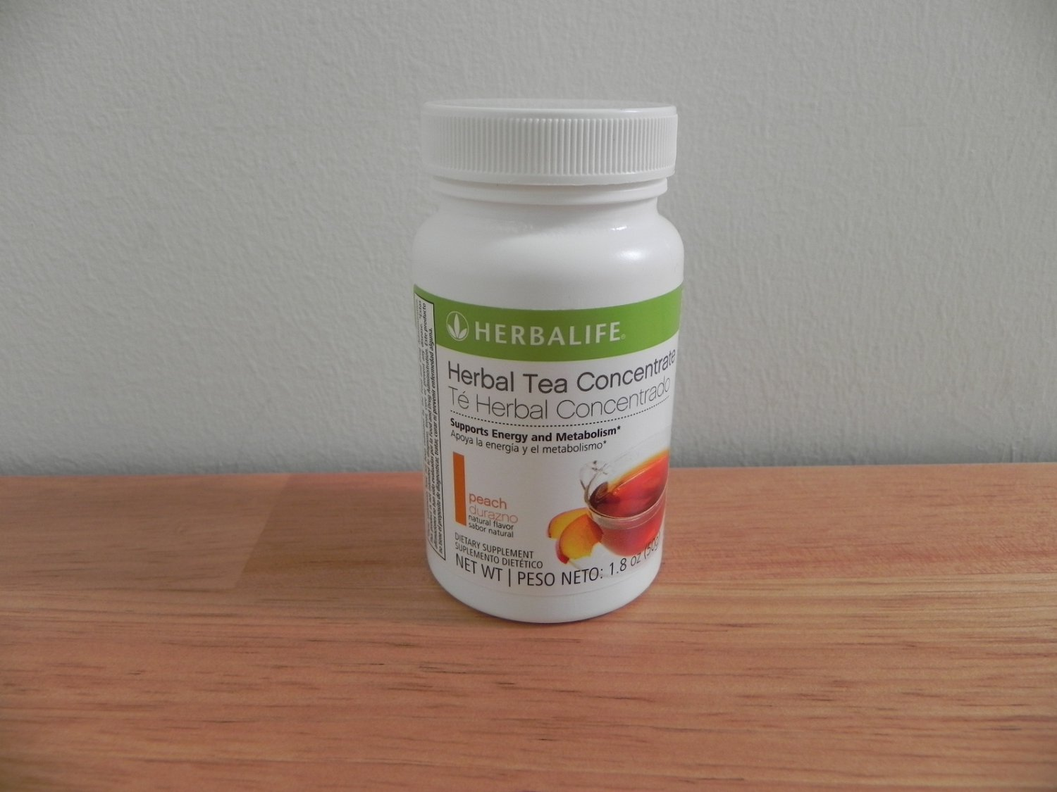 Herbalife Herbal Tea Concentrate 1.8oz 50g Peach ShapeWorks 2011 exp 9/2013