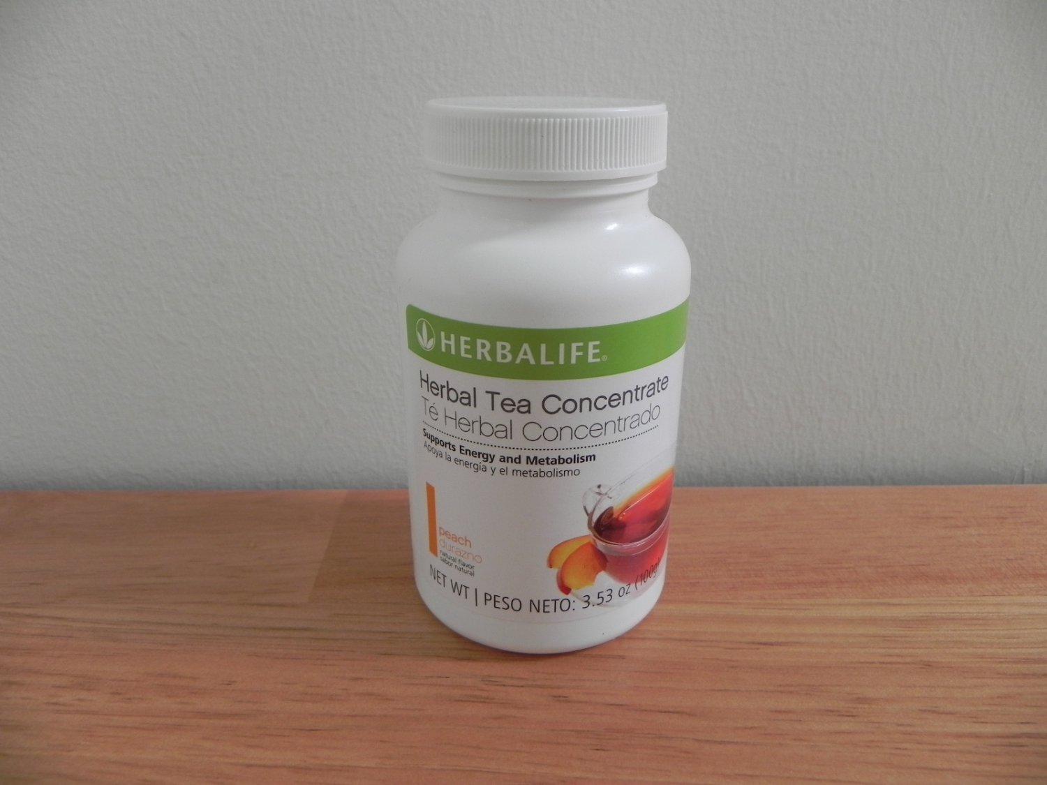 Herbalife Herbal Tea Concentrate 3.53oz 100g Peach Fresh exp 7/2016 or better