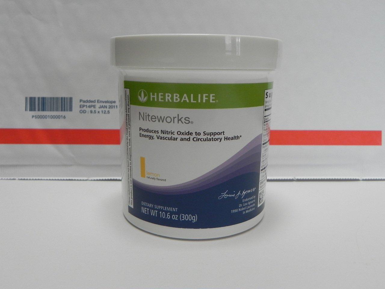 Herbalife Niteworks Cardio Supplement Lemon 300g 10.6oz 2012
