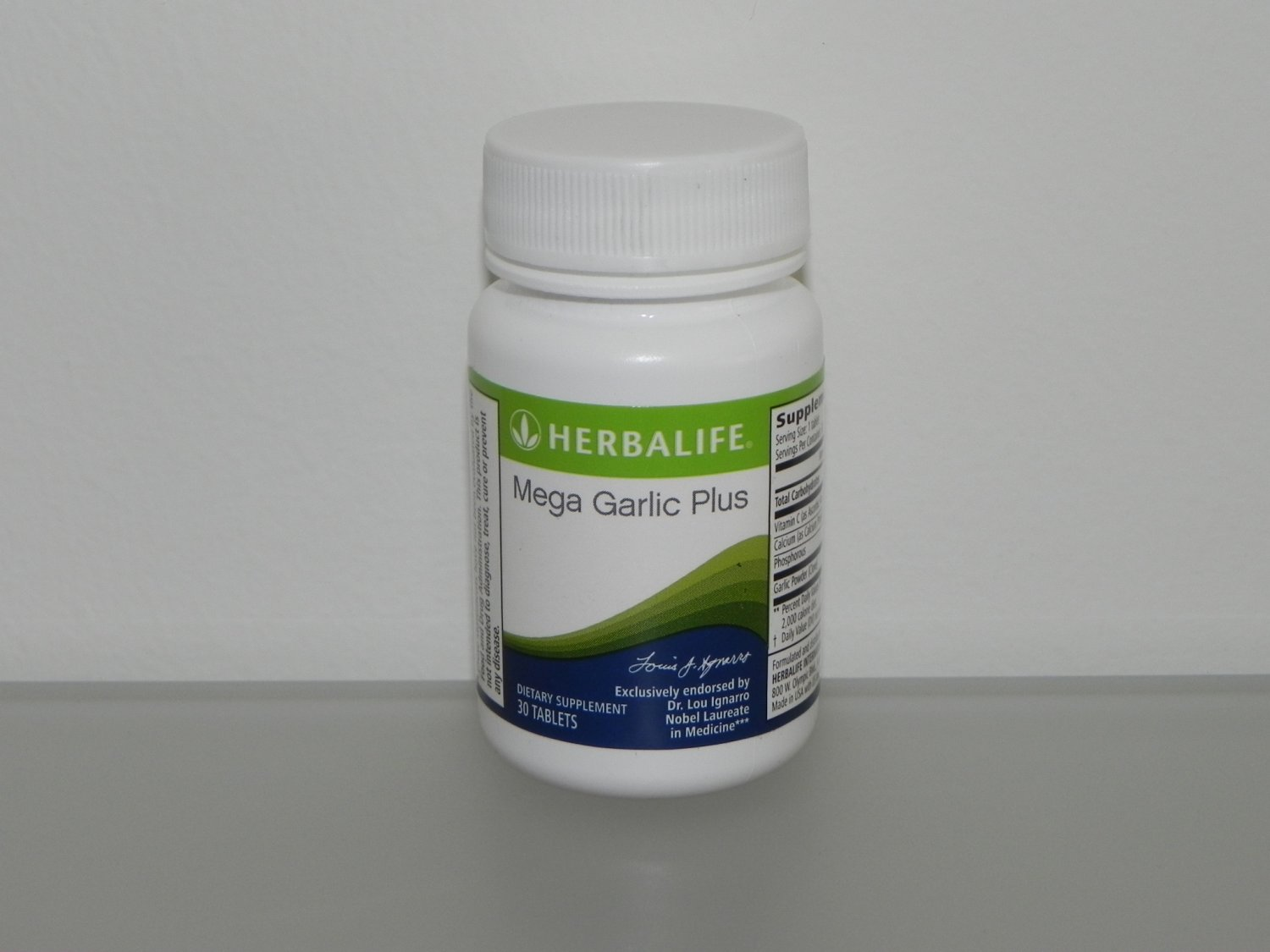 Herbalife Mega Garlic Plus Endorsed by Dr Lou Ignarro Fresh exp 5/16