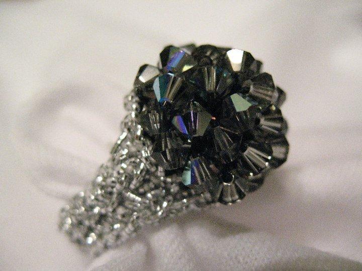 """Bling Ring"" handmade Swarovski crystal ring"