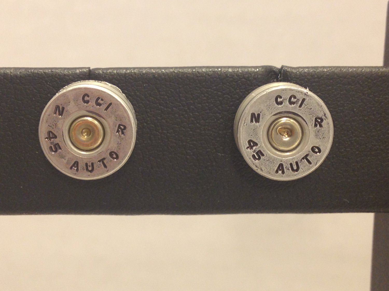 Bullet Casing Post Earrings