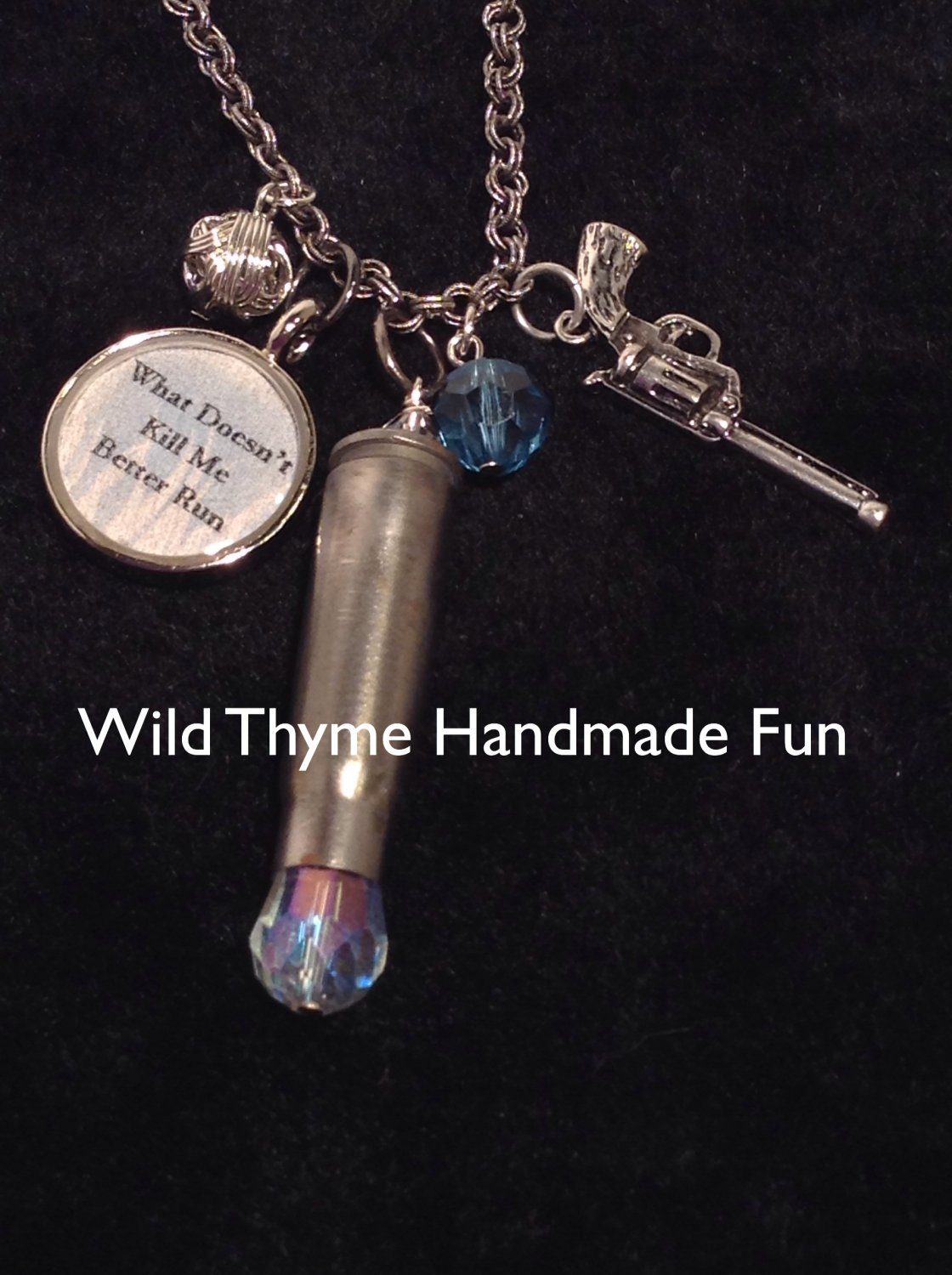 """""""What doesn't kill me"""" necklace"""