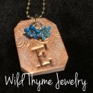 Personalized Initial Handmade Clay Pendant