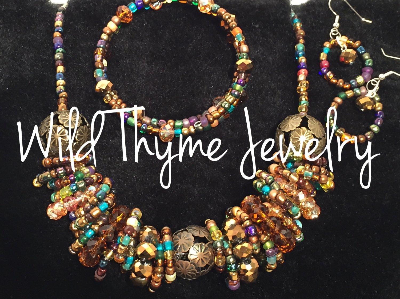 Mocha Confetti Necklace Set