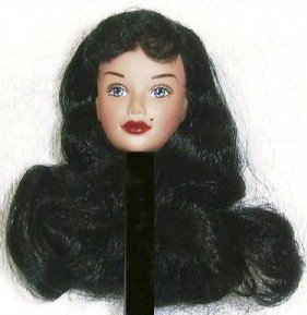 DOLL HEAD BETTIE PAGE 11.5 to 12 inch fashion doll bodies