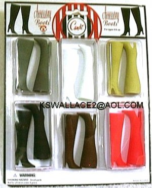 "DOLL BOOTS 6 PACK Basic Colors 11.5 to12"" fashion dolls"
