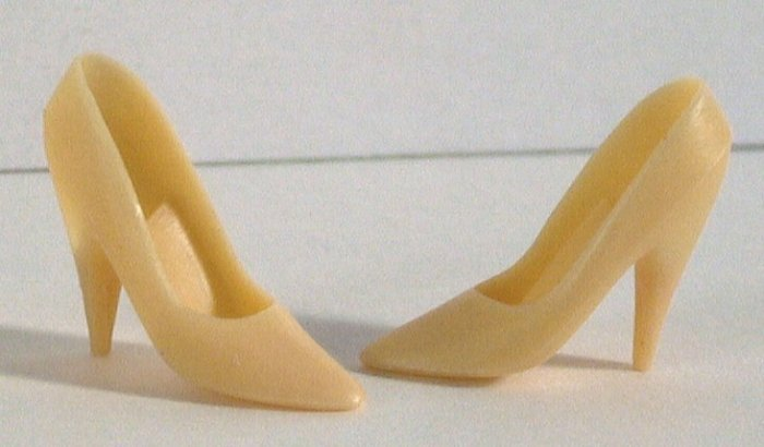 "Doll Shoes for 11.5 to 12"" fashion dolls BEIGE HIGH HEEL PUMPS"