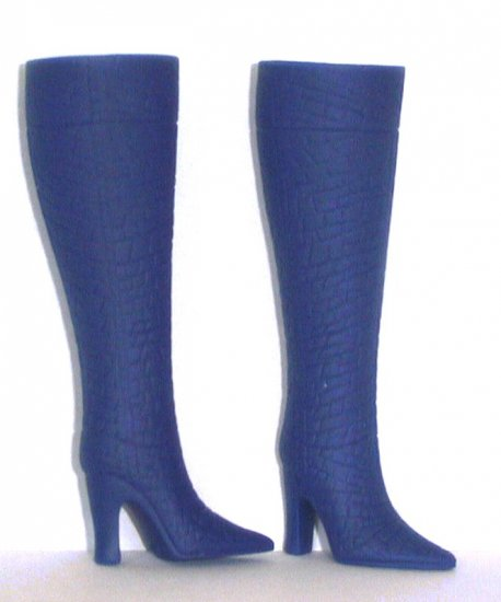 "Fashion Doll Boots for 11.5-12"" dolls NAVY BLUE Candi Brand"