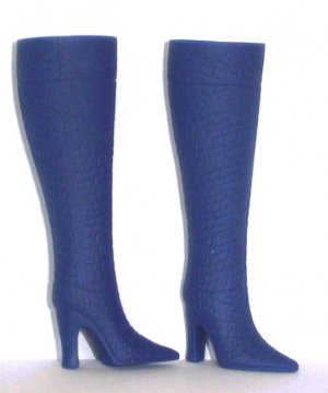 """Fashion Doll Boots for 11.5-12"""" dolls NAVY BLUE Candi Brand"""