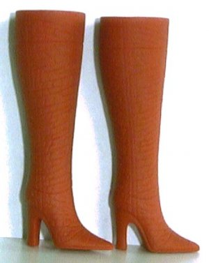"Fashion Doll Boots for 11.5 to 12"" dolls RUST / TERRA COTTA Candi Brand"