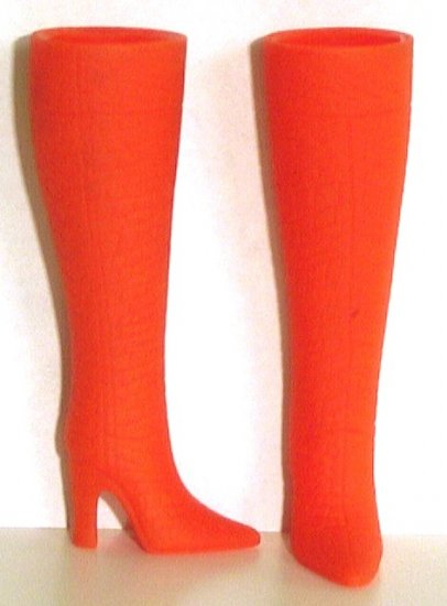 "Fashion Doll Boots for 11.5-12"" dolls, BRIGHT ORANGE, Candi Brand"