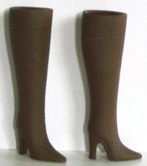 "Doll Boots for 11.5-12"" fashion dolls, DARK BROWN, Candi Brand"