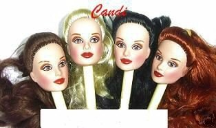 DOLL HEAD Candi ISRAELI BLACK HAIR 11.5 to 12 Inch dolls