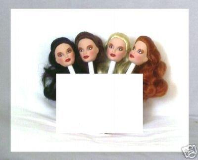 DOLL HEAD HISPANIC RED HAIR 11.5 to 12 inch  fashion dolls Candi