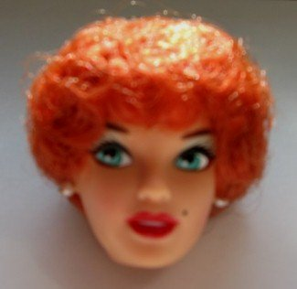 DOLL HEAD Vintage Redhead Bubble Cut 11.5 to 12 INCH fashion dolls Candi