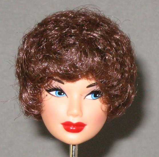DOLL HEAD Vintage Brunette Bubble Cut 11.5 to 12 INCH fashion dolls Candi