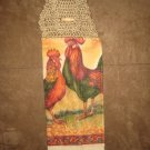 Crochet Top Rooster Towel