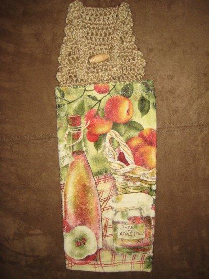 Crochet Top Apple Towel