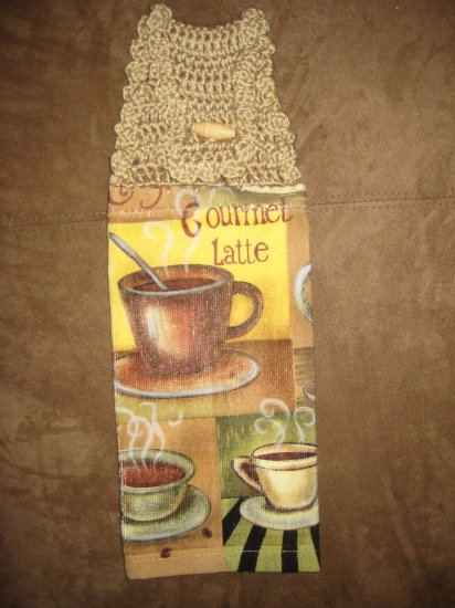 Crochet Top Coffee Shop Towel