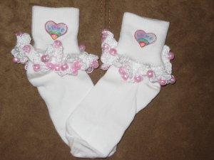 Heart Beaded Sock