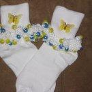 Butterflie Beaded Socks (Yellow)